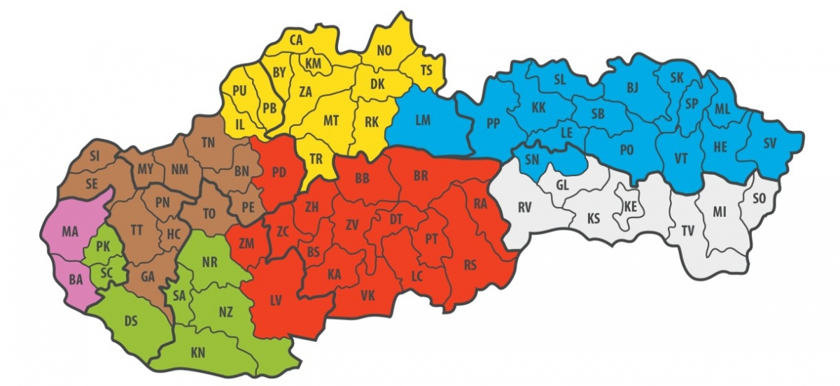 Regionalna mapa ISOVER